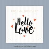 Cześć miłość - ręka rysujący literowanie Obraz Royalty Free