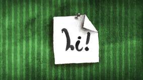 Cześć notatki nakreślenie na ścianie ilustracja wektor