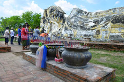 Cześć przy Opierać Buddha przy Watem Lokkayasutharam Fotografia Royalty Free