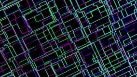 Cześć techniki technologii cyfrowej tła 3D abstrakcjonistyczna Futurystyczna animacja 4K ilustracji