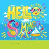 Cześć Tropikalny lato Obrazy Stock