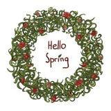 Cześć wiosna Zdjęcia Stock