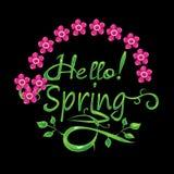 Cześć wiosna Fotografia Stock
