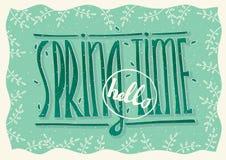Cześć wiosna czas Fotografia Stock