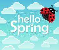 Cześć wiosna tematu wizerunek 1 Zdjęcia Royalty Free