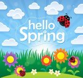 Cześć wiosna tematu wizerunek 2 Zdjęcia Royalty Free