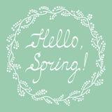 Cześć wiosny kartka z pozdrowieniami Obrazy Royalty Free