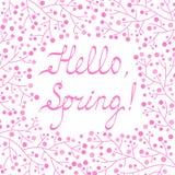 Cześć wiosny kartka z pozdrowieniami Zdjęcia Royalty Free