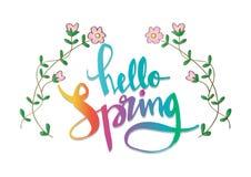 Cześć wiosny literowanie Fotografia Royalty Free