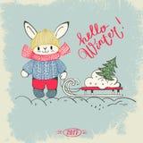 Cześć zima! ilustracji