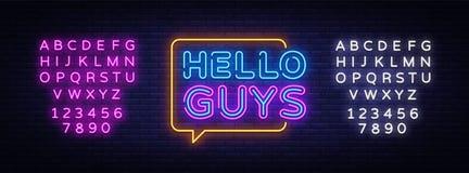 Cze?? faceta teksta Neonowy wektor Blogging neonowy znak, projekta szablon, nowo?ytny trendu projekt, nocy signboard, noc jaskraw ilustracja wektor