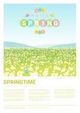 Cześć wiosny krajobrazowy tło Obraz Royalty Free