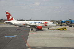 Czech A319 Airbus. Stock Photo