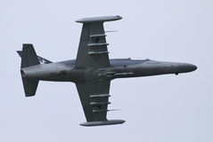 Czech air force L-159. Unarmed doing maneuvres Royalty Free Stock Photo