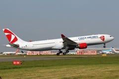 Czech Airlines Aerobus 330-323X Obraz Royalty Free