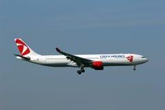 Czech Airlines Aerobus 330-323X Zdjęcia Royalty Free