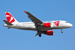 Czech Airlines Airbus A319 Foto de Stock Royalty Free