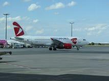 Czech Airlines Airbus A319 Fotos de Stock