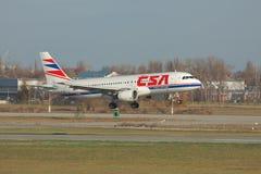 Czech Airlines Airbus A320 Fotografia de Stock