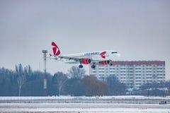 Czech Airlines Airbus A320 Imagens de Stock
