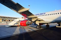 Czech Airlines Airbus A319 Photos libres de droits