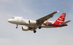 Czech Airlines Airbus A319 Prague Livery Royalty Free Stock Photography