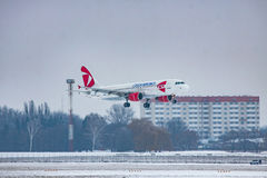 Czech Airlines Airbus A320 Stock Images