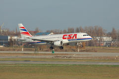 Czech Airlines Airbus A320 Stock Photography