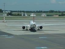 Czech Airlines Airbus A319 em Praga Imagens de Stock Royalty Free