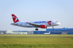 Czech airlines Airbus A319 landing Royalty Free Stock Image