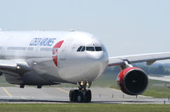 Czech Airlines Airbus A320 Ruzyne. Airport Stock Photography
