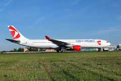 Czech Airlines Airbus 330-323X Royalty Free Stock Photos