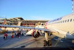 Czech Airlines flygbuss A319 Arkivbilder