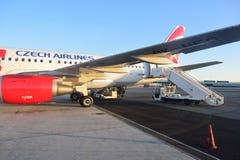 Czech Airlines flygbuss A319 Arkivbild