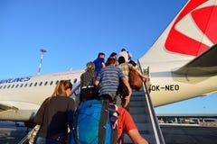 Czech Airlines flygbuss A319 Fotografering för Bildbyråer