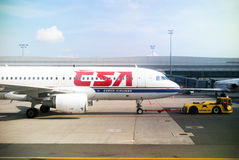 Czech Airlines.Pushback Royalty Free Stock Images