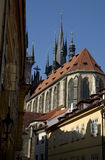 Czech architecture. Typical architecture of Prague stock photo