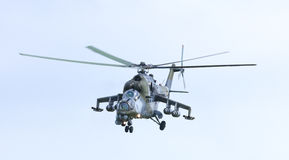 Czech Army Fighter- Helicopter MI24V Hind Stock Photos