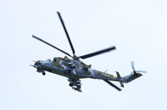 Czech Army Fighter- Helicopter MI24V Hind Royalty Free Stock Image