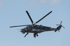 Czech attack helicopter Mi-24/35 flying Royalty Free Stock Images