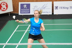 Czech badminton - Alzbeta Basova Stock Images