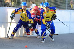 Czech ball hockey extraleague Stock Image