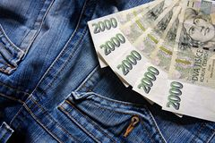 Czech banknotes Royalty Free Stock Photo