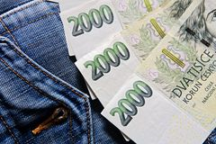 Czech banknotes Royalty Free Stock Photography