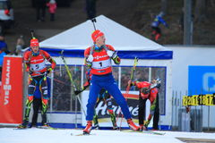 Czech biathlon star - Ondrej Moravec Royalty Free Stock Image