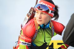 Czech biathlon - Veronika Vitkova Royalty Free Stock Photography