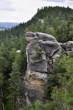 Czech Bohemian Paradise Klokoci rocks Royalty Free Stock Photo