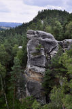 Czech Bohemian Paradise Klokoci rocks Stock Image