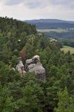 Czech Bohemian Paradise Klokoci rocks Stock Images