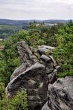 Czech Bohemian Paradise Klokoci rocks Royalty Free Stock Image